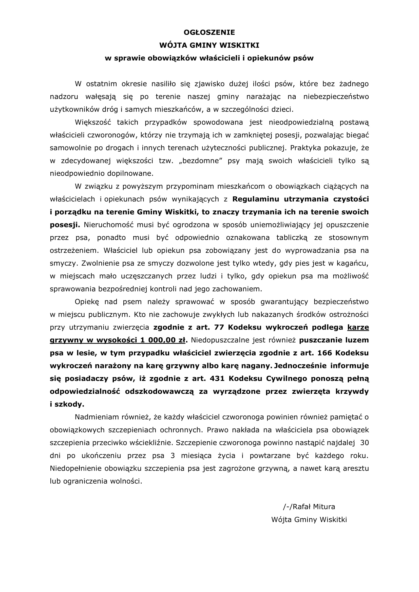 Ogłoszenie- psy-Autostrada A2-popr-1